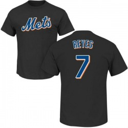 Men's Jose Reyes New York Mets Roster Name & Number T-Shirt - Black