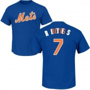 Men's Jose Reyes New York Mets Roster Name & Number T-Shirt - Royal