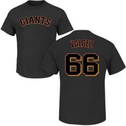 Men's Jose Valdez San Francisco Giants Roster Name & Number T-Shirt - Black