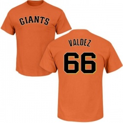 Men's Jose Valdez San Francisco Giants Roster Name & Number T-Shirt - Orange