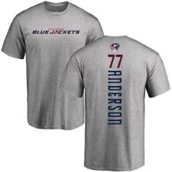 Men's Josh Anderson Columbus Blue Jackets Backer T-Shirt - Ash