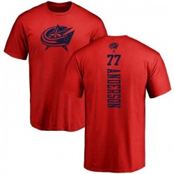 Men's Josh Anderson Columbus Blue Jackets One Color Backer T-Shirt - Red