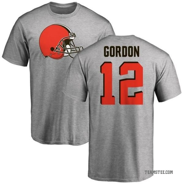 newest da360 28d42 Men's Josh Gordon Cleveland Browns Name & Number Logo T-Shirt - Ash - Teams  Tee