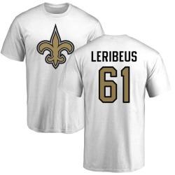 Men's Josh LeRibeus New Orleans Saints Name & Number Logo T-Shirt - White
