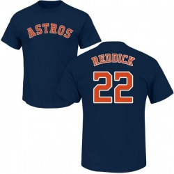 Men's Josh Reddick Houston Astros Roster Name & Number T-Shirt - Navy
