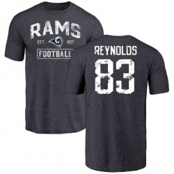 Men's Josh Reynolds Los Angeles Rams Distressed Name & Number Tri-Blend T-Shirt - Navy