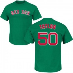 Men's Josh Taylor Boston Red Sox St. Patrick's Day Roster Name & Number T-Shirt - Green