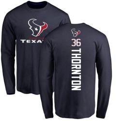 Men's Josh Thornton Houston Texans Backer Long Sleeve T-Shirt - Navy