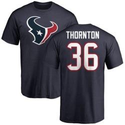 Men's Josh Thornton Houston Texans Name & Number Logo T-Shirt - Navy