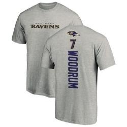 Men's Josh Woodrum Baltimore Ravens Backer T-Shirt - Ash