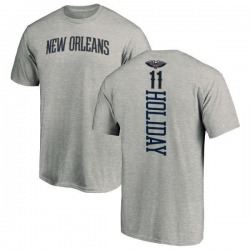 Men's Jrue Holiday New Orleans Pelicans Ash Backer T-Shirt