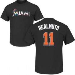 Men's J.T. Realmuto Miami Marlins Roster Name & Number T-Shirt - Black