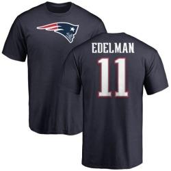 Men's Julian Edelman New England Patriots Name & Number Logo T-Shirt - Navy