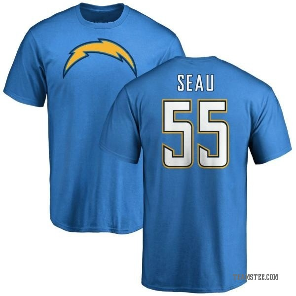 timeless design 3310e 2e7f3 Men's Junior Seau Los Angeles Chargers Name & Number T-Shirt - Blue - Teams  Tee