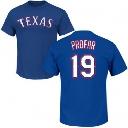 Men's Jurickson Profar Texas Rangers Roster Name & Number T-Shirt - Royal