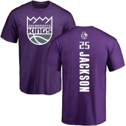 Men's Justin Jackson Sacramento Kings Purple Backer T-Shirt