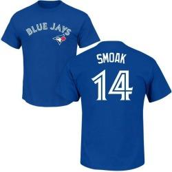Men's Justin Smoak Toronto Blue Jays Roster Name & Number T-Shirt - Royal