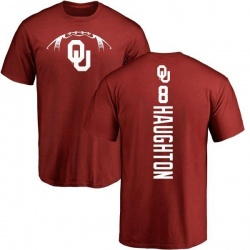 Men's Kahlil Haughton Oklahoma Sooners Football Backer T-Shirt - Cardinal