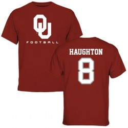 Men's Kahlil Haughton Oklahoma Sooners Name & Number Football T-Shirt - Crimson