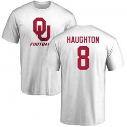 Men's Kahlil Haughton Oklahoma Sooners One Color T-Shirt - White