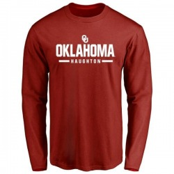 Men's Kahlil Haughton Oklahoma Sooners Sport Long-Sleeve T-Shirt - Cardinal