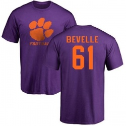 Men's Kaleb Bevelle Clemson Tigers One Color T-Shirt - Purple