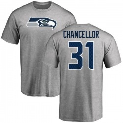 Men's Kam Chancellor Seattle Seahawks Name & Number Logo T-Shirt - Ash