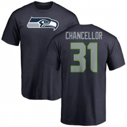 Men's Kam Chancellor Seattle Seahawks Name & Number Logo T-Shirt - Navy