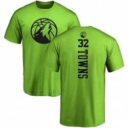 Men's Karl-Anthony Towns Minnesota Timberwolves Neon Green One Color Backer T-Shirt