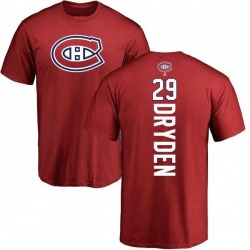 Men's Ken Dryden Montreal Canadiens Backer T-Shirt - Red