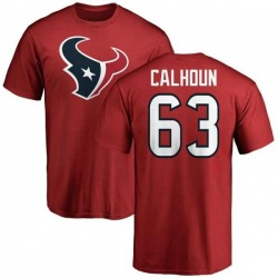 Men's Kendall Calhoun Houston Texans Name & Number Logo T-Shirt - Red