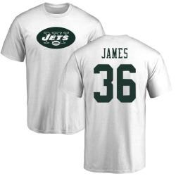 Men's Kendall James New York Jets Name & Number Logo T-Shirt - White