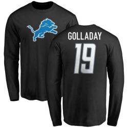 Men's Kenny Golladay Detroit Lions Name & Number Logo Long Sleeve T-Shirt - Black