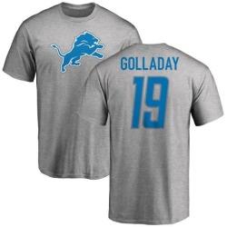 Men's Kenny Golladay Detroit Lions Name & Number Logo T-Shirt - Ash