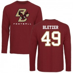 Men's Kevin Bletzer Boston College Eagles Football Long Sleeve T-Shirt - Maroon