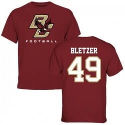 Men's Kevin Bletzer Boston College Eagles Football T-Shirt - Maroon