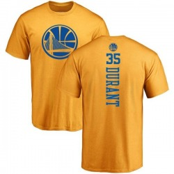 Men's Kevin Durant Golden State Warriors Gold One Color Backer T-Shirt