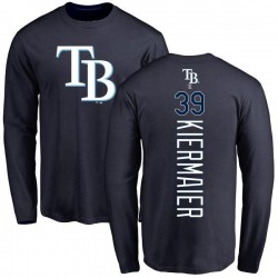 Men's Kevin Kiermaier Tampa Bay Rays Backer Long Sleeve T-Shirt - Navy