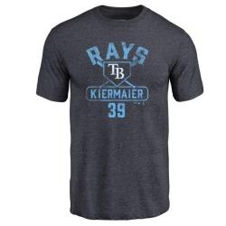 Men's Kevin Kiermaier Tampa Bay Rays Base Runner Tri-Blend T-Shirt - Navy