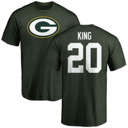 Men's Kevin King Green Bay Packers Name & Number Logo T-Shirt - Green