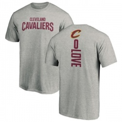 Men's Kevin Love Cleveland Cavaliers Ash Backer T-Shirt