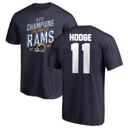 Men's KhaDarel Hodge Los Angeles Rams 2018 NFC Champions Navy T-Shirt