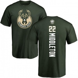 Men's Khris Middleton Milwaukee Bucks Green Backer T-Shirt