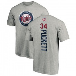 Men's Kirby Puckett Minnesota Twins Backer T-Shirt - Ash