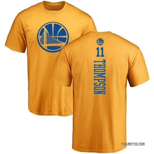 new concept 3423c c5d05 Men's Klay Thompson Golden State Warriors Gold One Color Backer T-Shirt -  Teams Tee