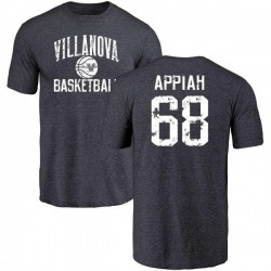 Men's Kofi Appiah Villanova Wildcats Distressed Basketball Tri-Blend T-Shirt - Navy