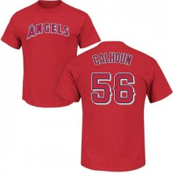 Men's Kole Calhoun Los Angeles Angels Roster Name & Number T-Shirt - Red