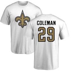 Men's Kurt Coleman New Orleans Saints Name & Number Logo T-Shirt - White