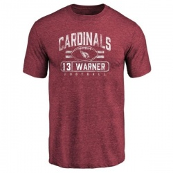 Men's Kurt Warner Arizona Cardinals Flanker Tri-Blend T-Shirt - Maroon