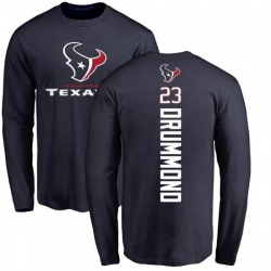 Men's Kurtis Drummond Houston Texans Backer Long Sleeve T-Shirt - Navy